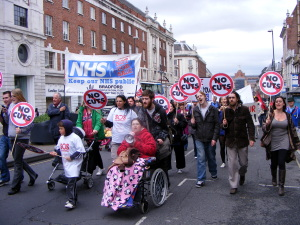 NHS demonstration Leeds